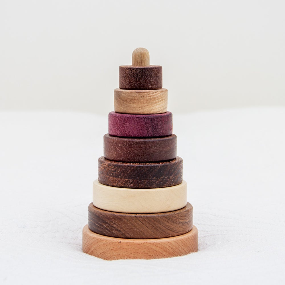Image of Wooden stacking tower