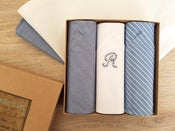 Image of Initial handkerchiefs set