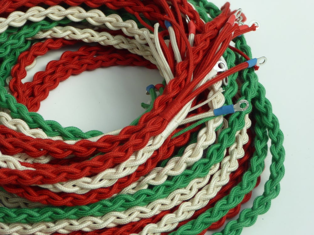 Image of Telephone Cords: Ivory, Chinese Red & Jade  (£11.50-£23.00)