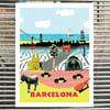 BARCELONA<br> (art print)