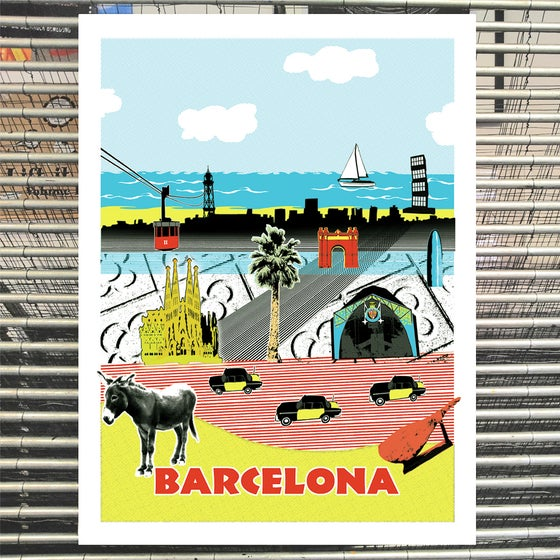 Image of >new edition!<<br>BARCELONA<br> (art print)