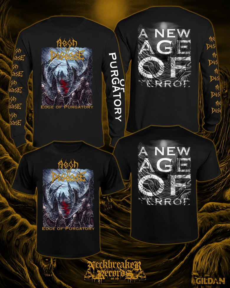Image of NBR009 Aeon of Disease - Edge of Purgatory Longsleeve  +CD Bundle