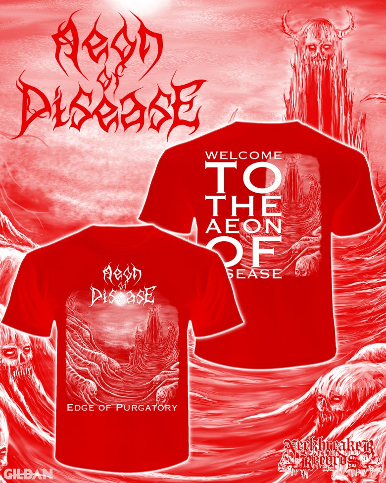 Image of NBR009 Aeon of Disease - Edge of Purgatory Shirt RED +CD Bundle