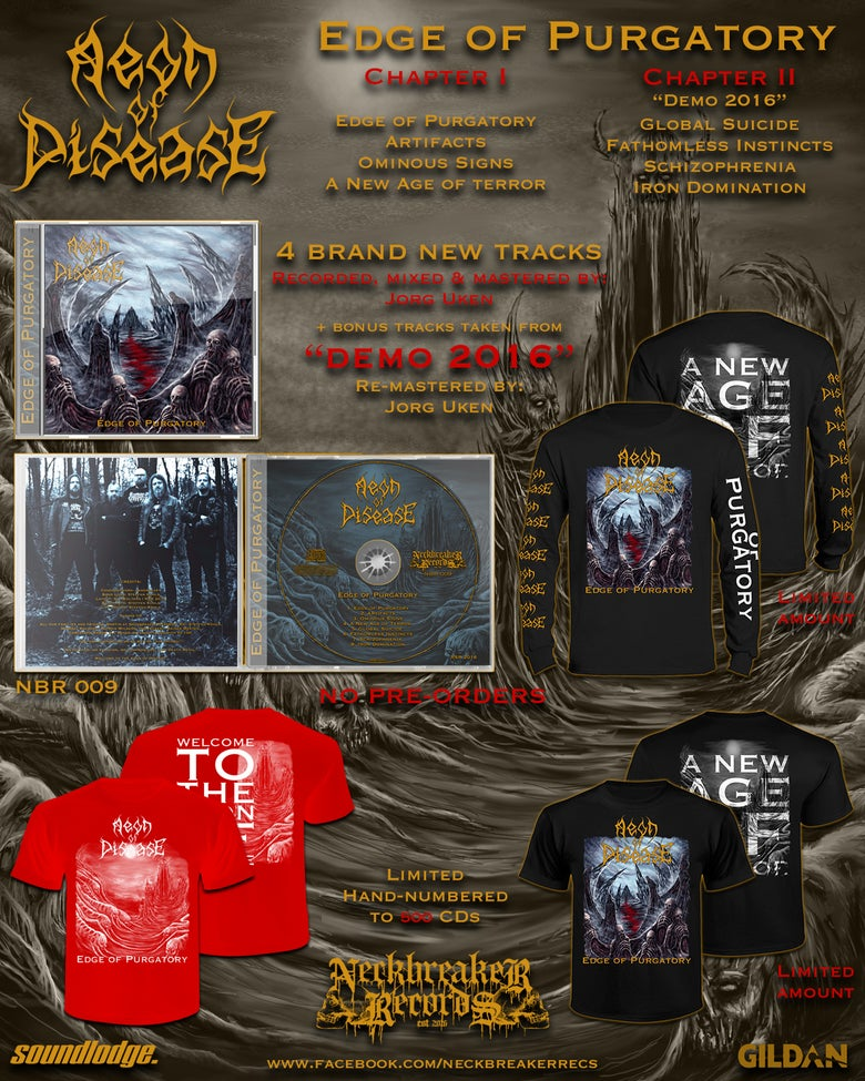Image of NBR009 Aeon of Disease - Edge of Purgatory Shirt Black  +CD Bundle