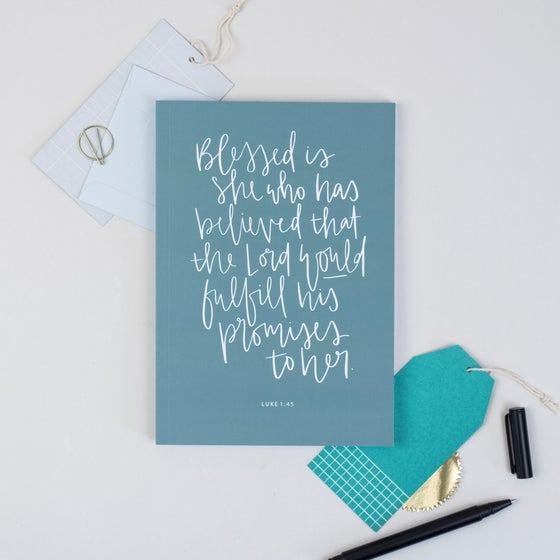 Image of Blessed is She A5 Devotional Notebook