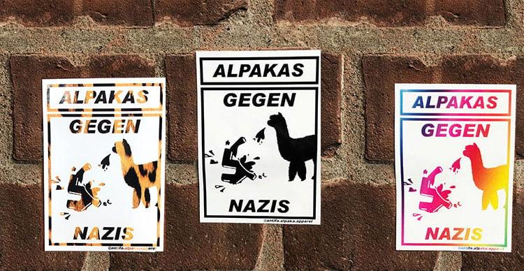 Image of Alpakas Gegen Nazis Sticker