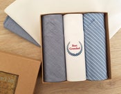 Image of Best Grandad Handkerchiefs set
