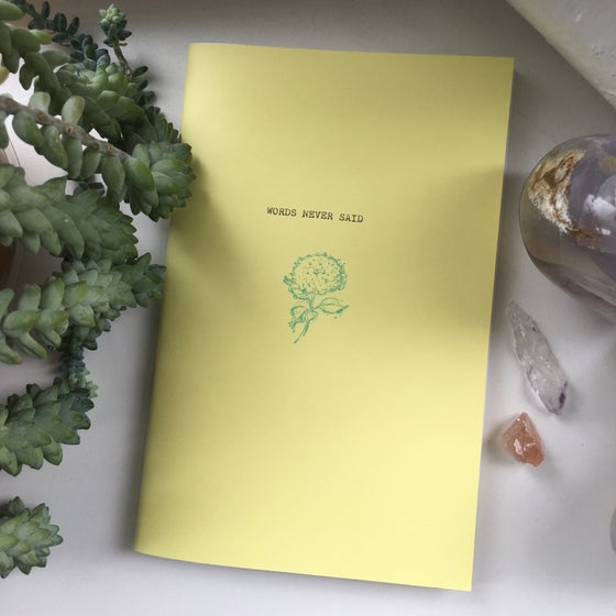 Image of words never said zine