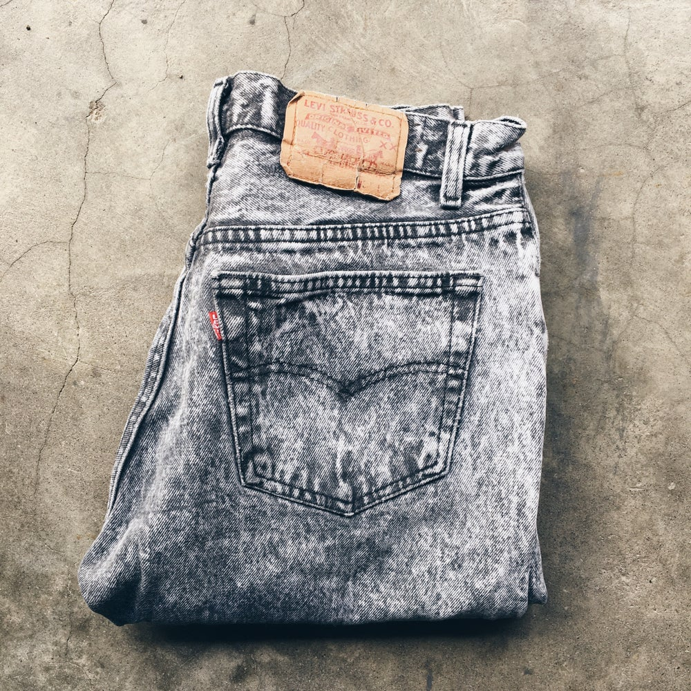 Image of Original 80's Levi's Acid Wash Jeans.