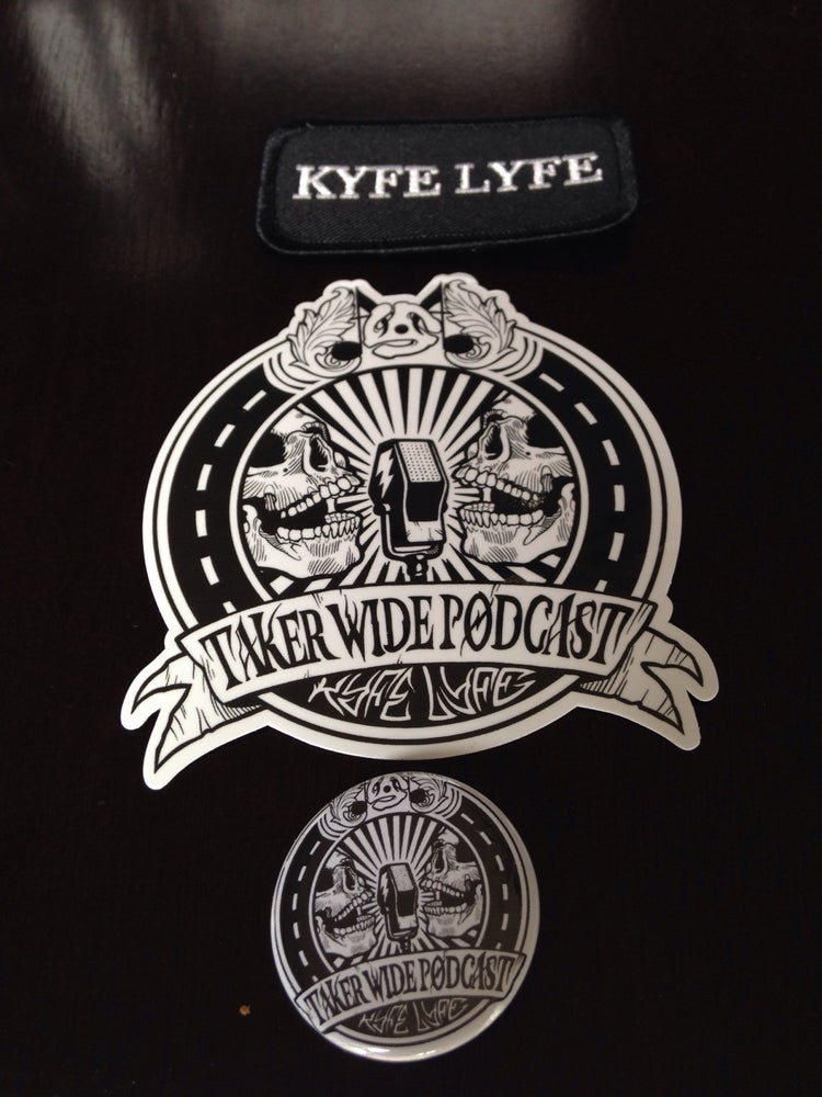 Image of Patch, Sticker, Pin Combo