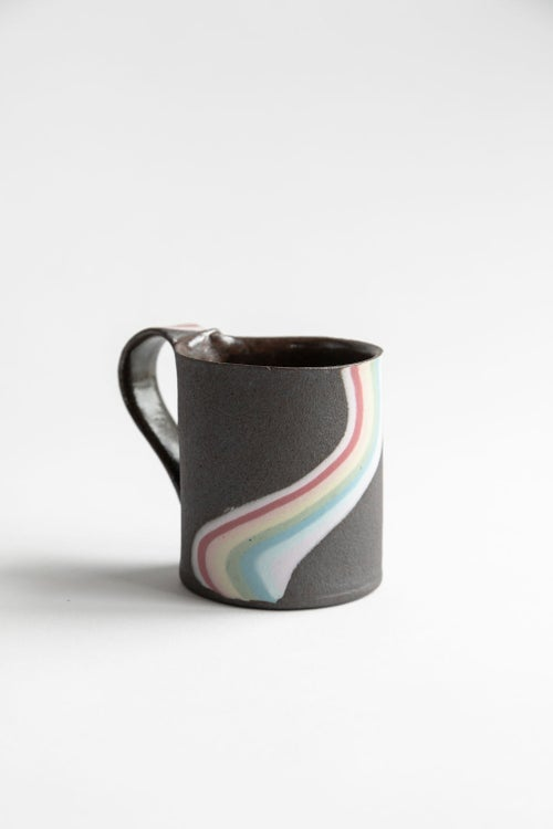 Image of Rainbow on Dark Sky Handled Mugs