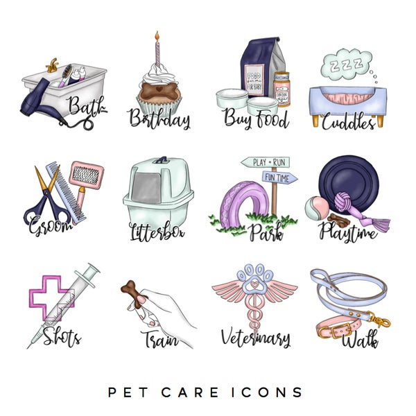 Image of Pet Care Icons