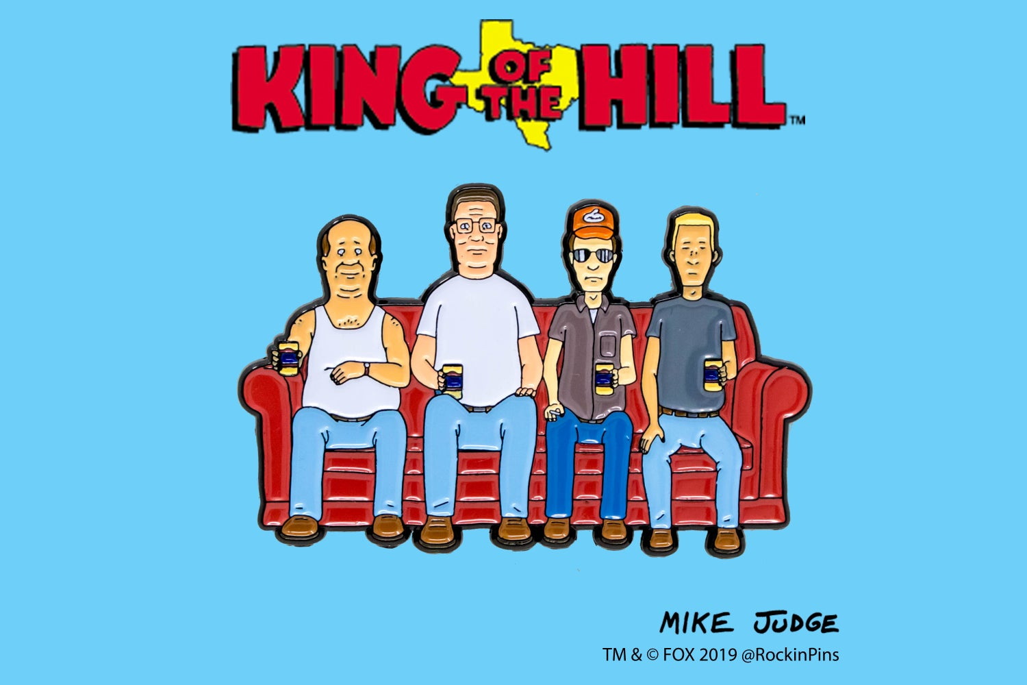 Image of King of the Hill - Alley Couch Enamel Pin