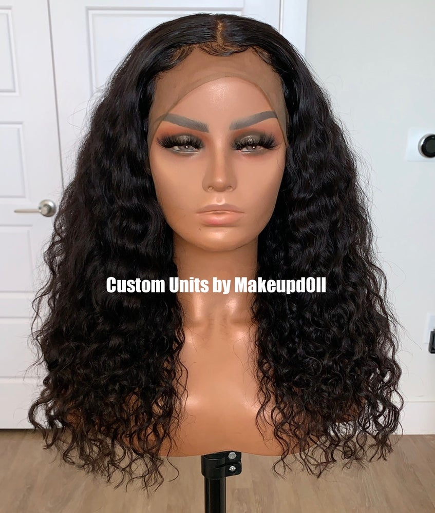 """Image of Cambodian Natural Wave 18"""" 360 Lace Frontal Wig!"""