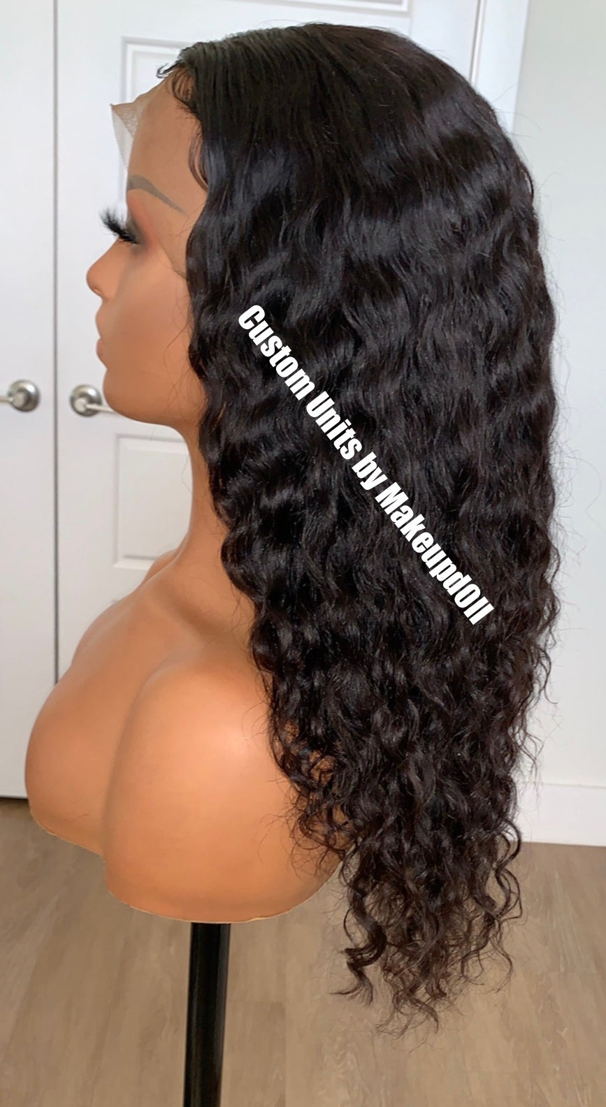 "Image of Cambodian Natural Wave 18"" 360 Lace Frontal Wig!"
