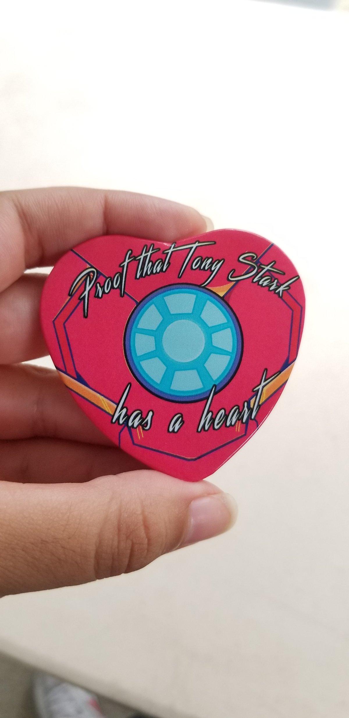 Image of TONY STARK HAS A HEART