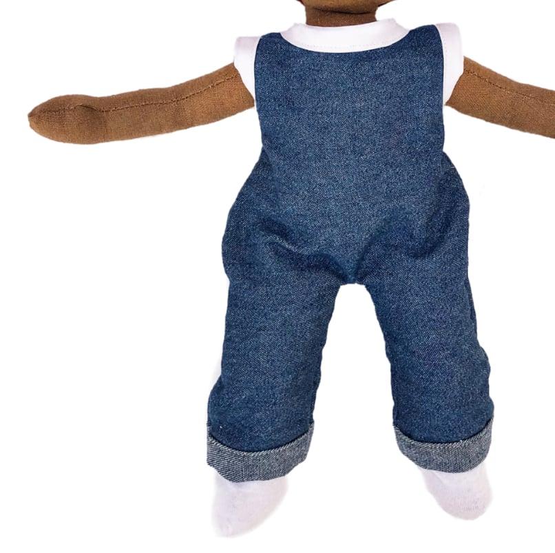 Image of Denim babydoll jumper + socks