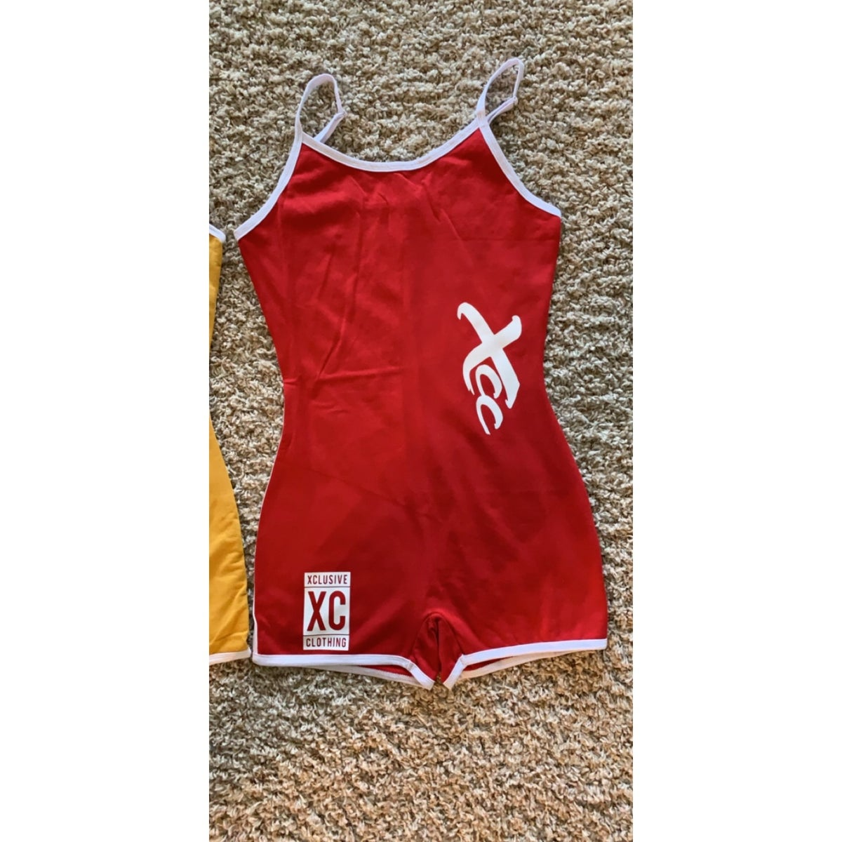 Image of Summer breeze Romper in Red