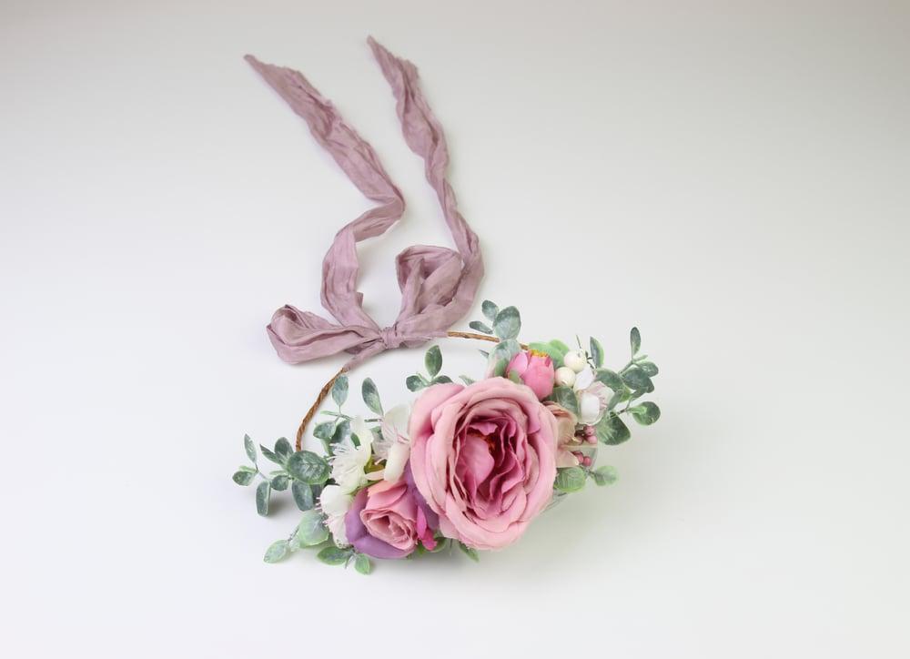 Image of Sitter-Adult Mauve Floral Crown - b