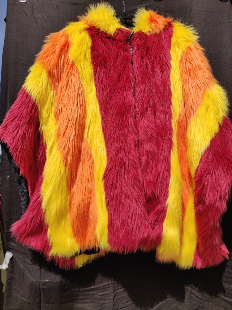 Image of Fun Fur Poncho: Fire