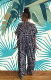 •Déwo• kaftan jumpsuit: salt + pepper prowl