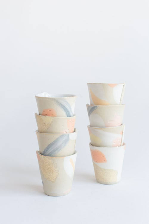 Image of Peachy Pink Mini Party Tumblers