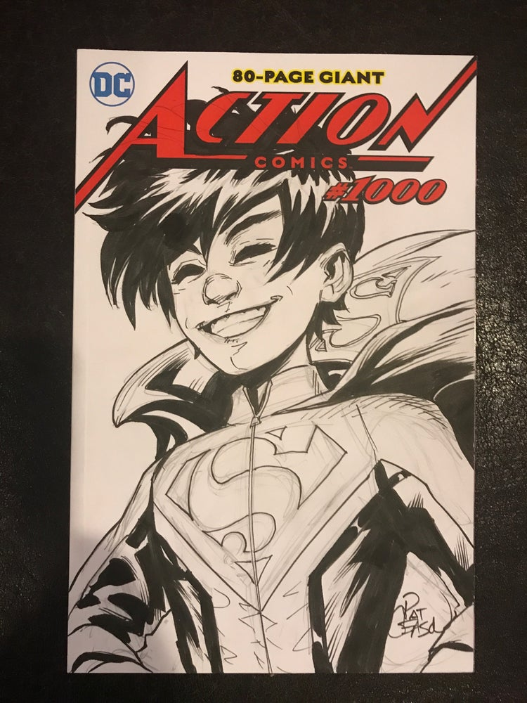 Image of Action Comics 1000 Superboy sketch cover