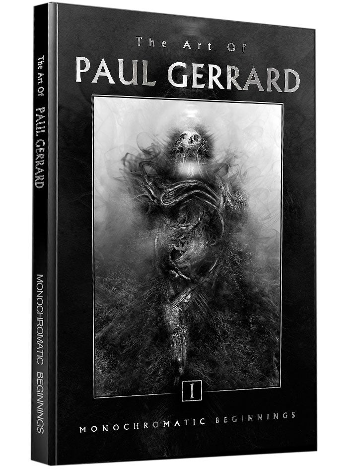 Image of ART OF GERRARD Vol 1 : MONOCHROMATIC BEGINNINGS / HARDCOVER SIGNED