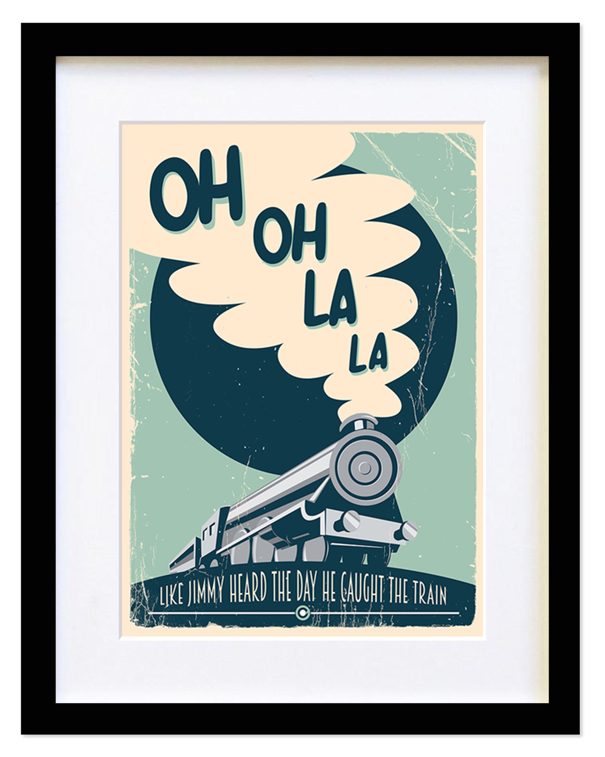 Image of Ocean Colour Scene - Train - Limited edition Framed print (A4-A3-A2)