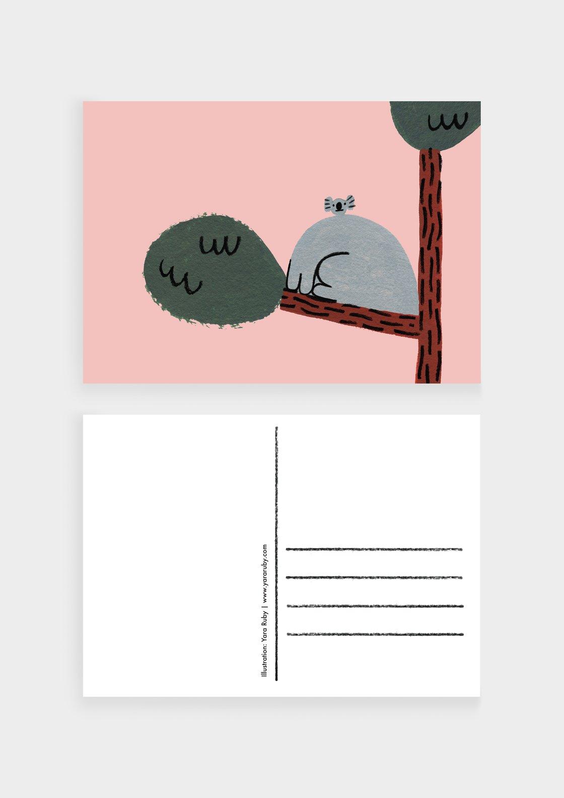 Image of Koala Kollabo   Set of 5 Postcards