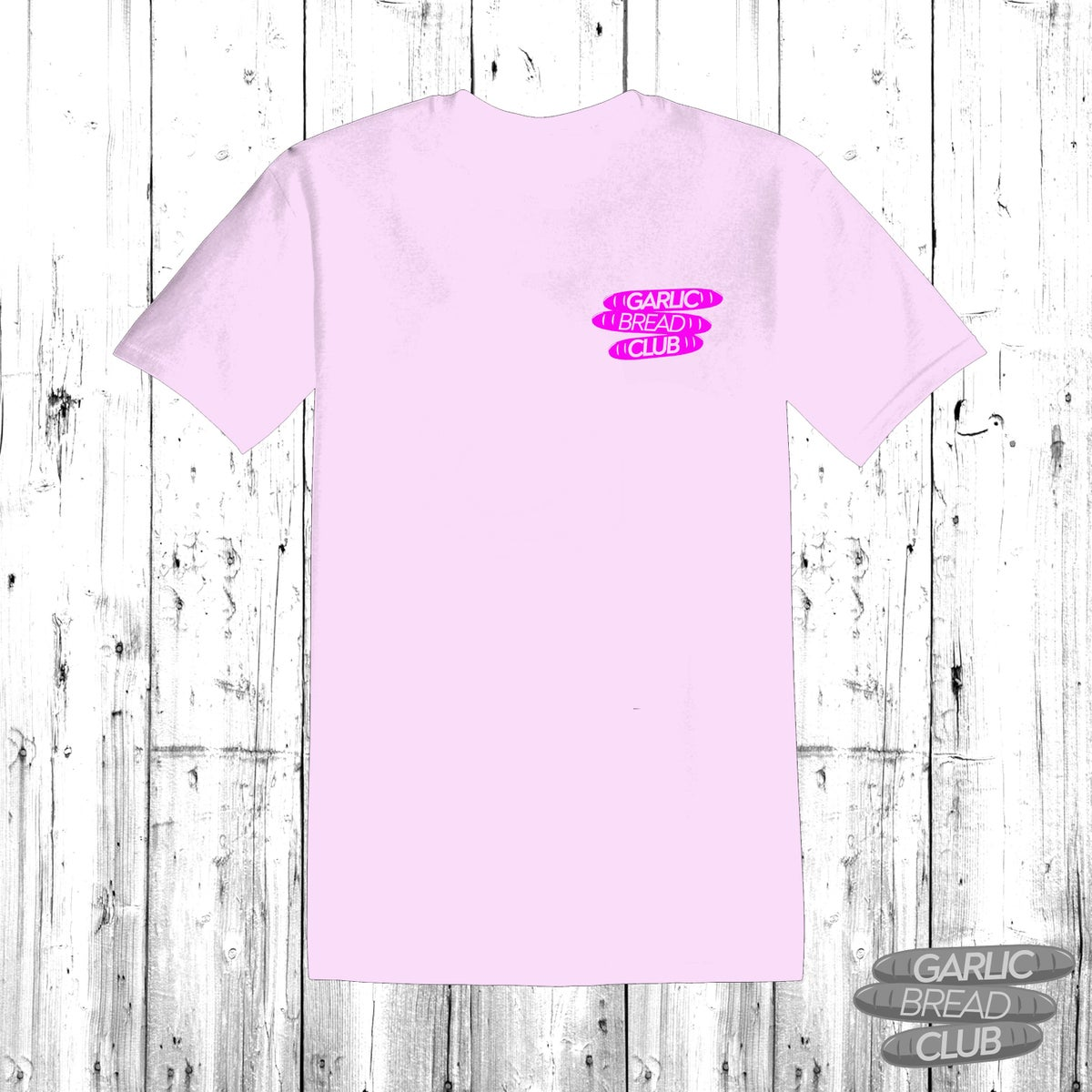 Image of Garlic Bread Club Shirt Pink