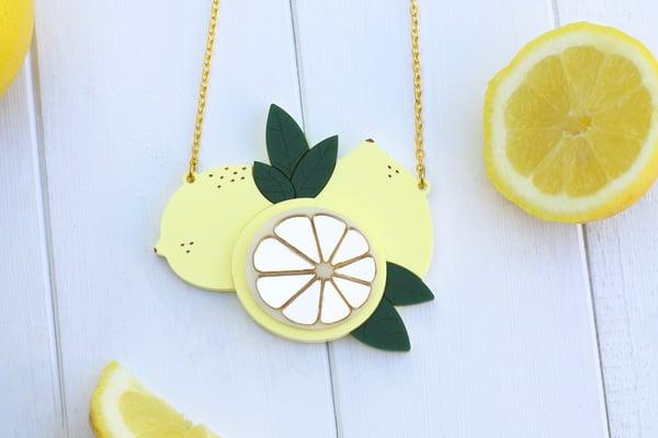 Sicilian Lemon Necklace  - Black Heart Creatives