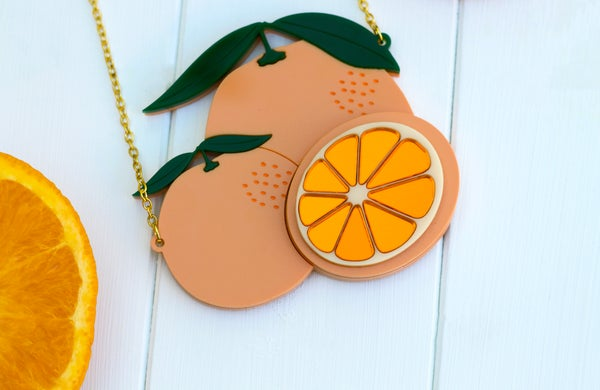 Valencian Orange Necklace - Black Heart Creatives