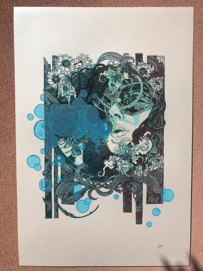 "Image of Art Print "" Shiny Lady """