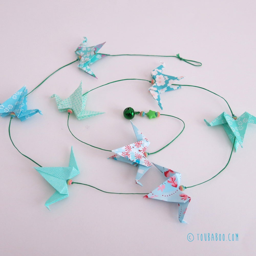 Image of Guirlande origami grues