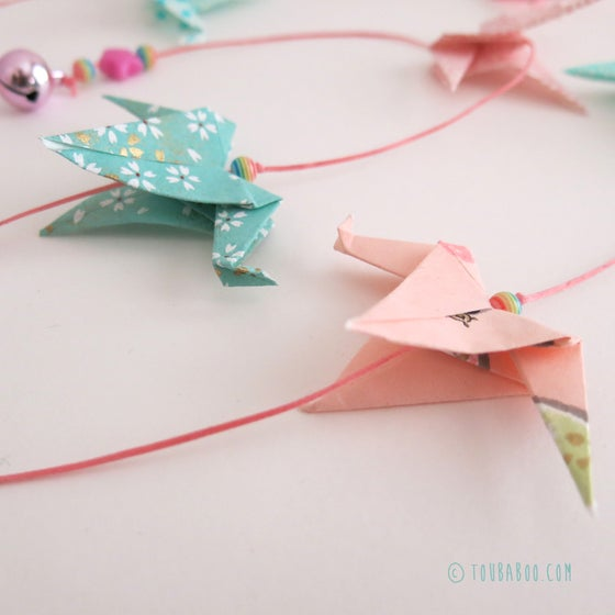 Image of Guirlande origami grues