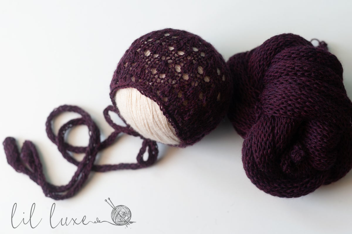 Image of One of a kind burgundy merino set