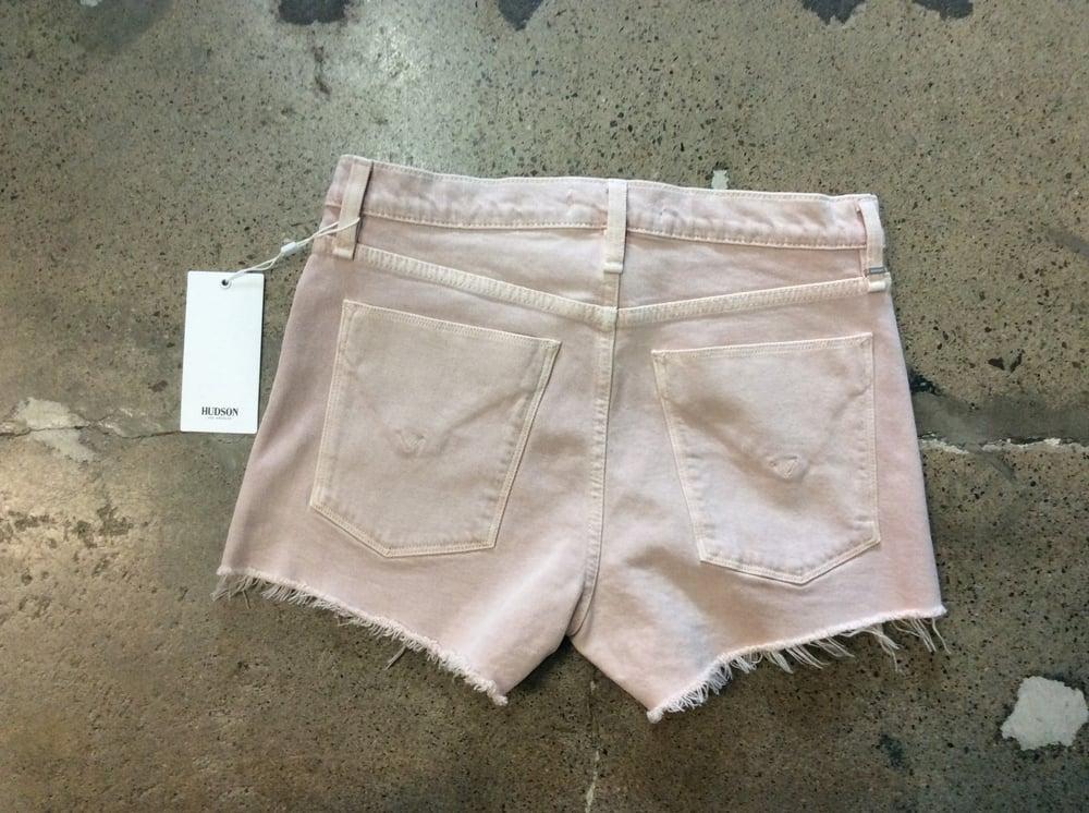 Image of Hudson Pink Denim Shorts