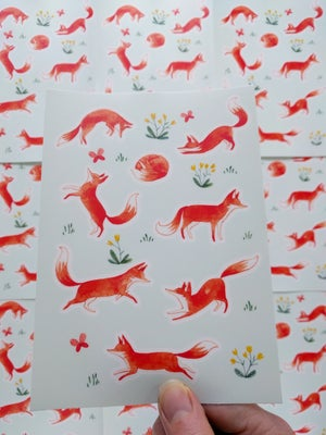 Image of Fox Sticker Sheet