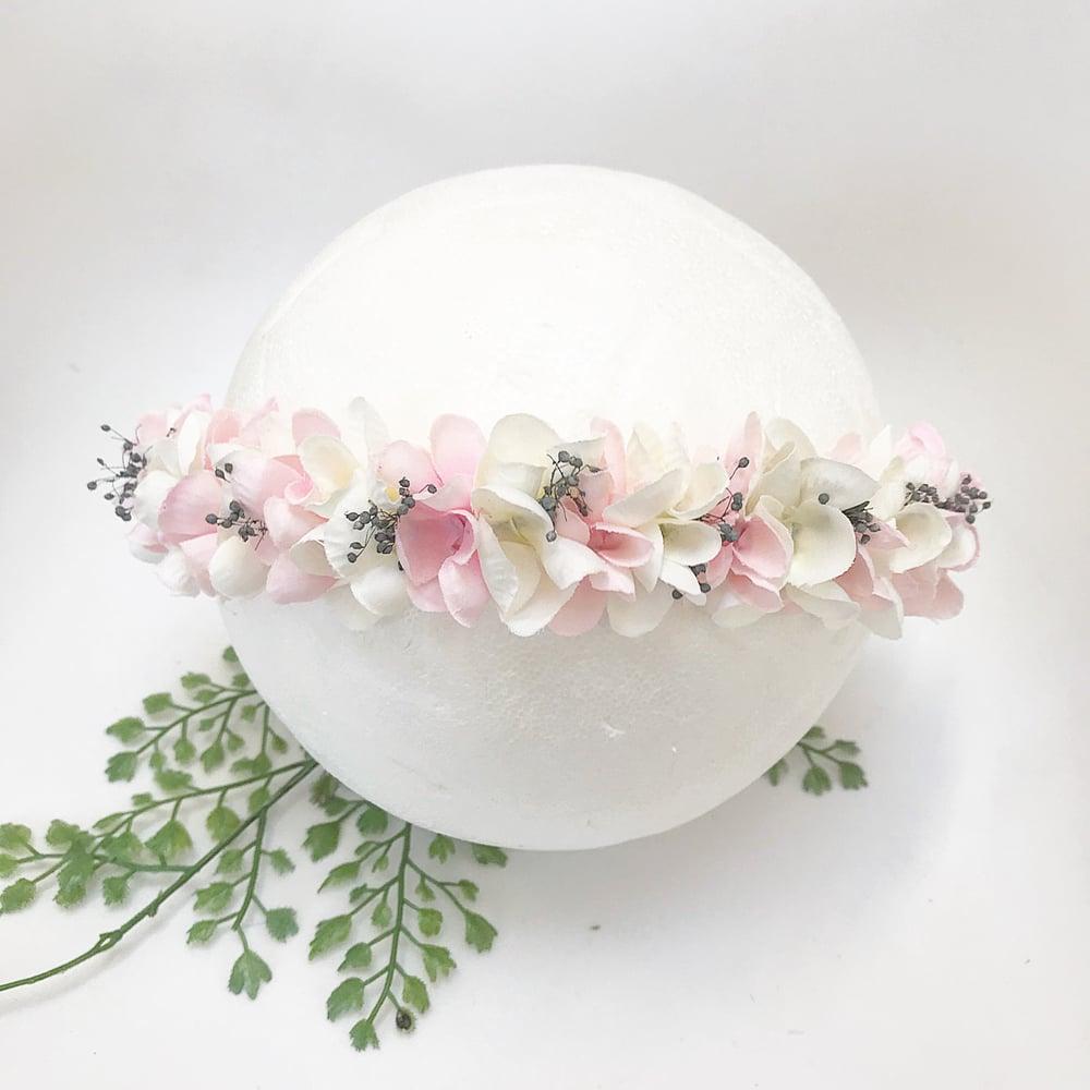 Image of Halo blanc gris et rose