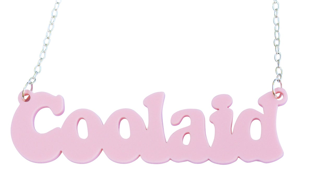 Image of Customised Word Name Necklace Coolaid Font