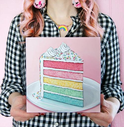 Image of Rainbow Cake plaque
