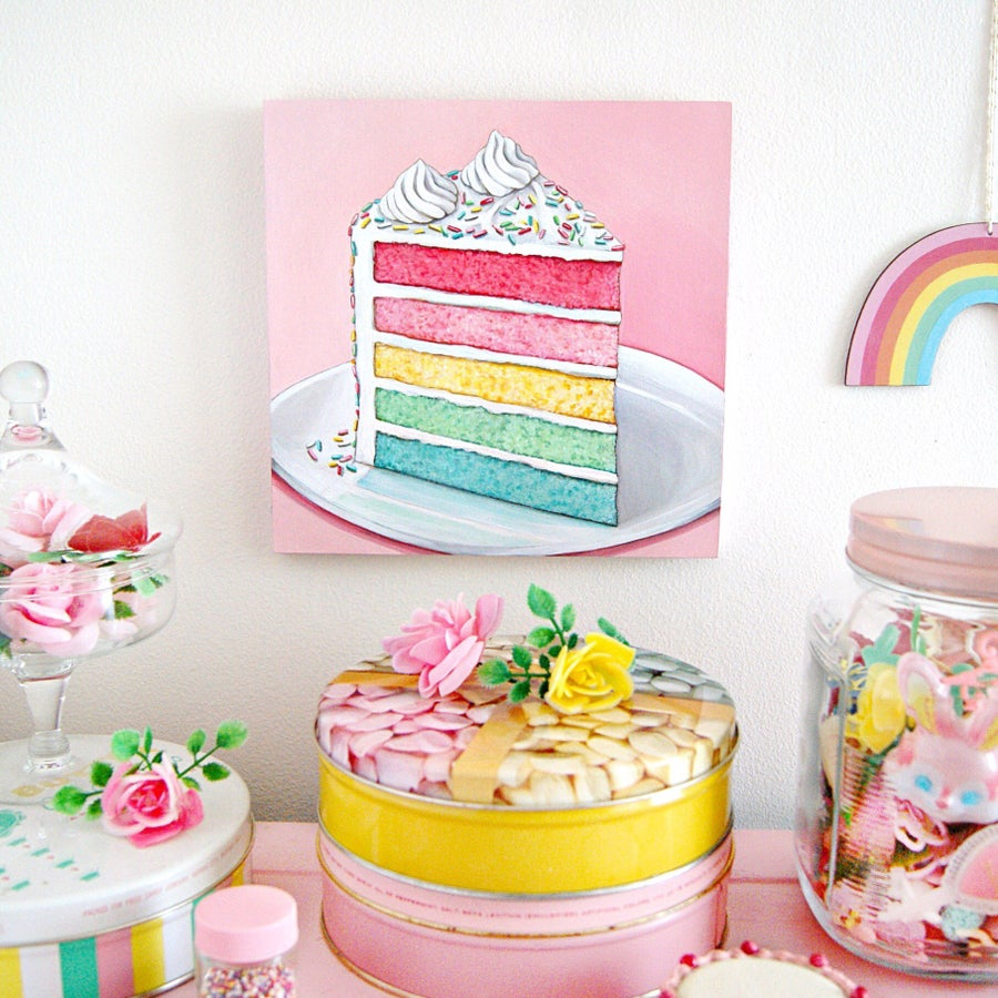 Image of Rainbow Cake plaque