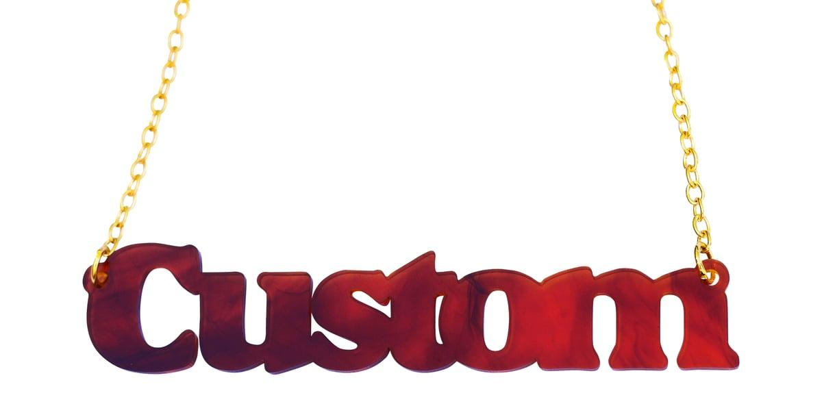 Image of Customised Word Name Necklace Sunshine Font