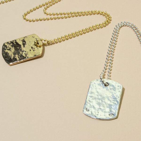 Image of Hammered Dog Tag