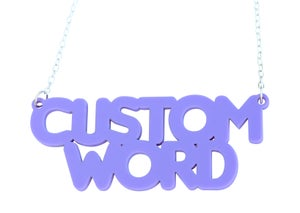 Double Line Customised Word Name Necklace Macaroni Font - Black Heart Creatives