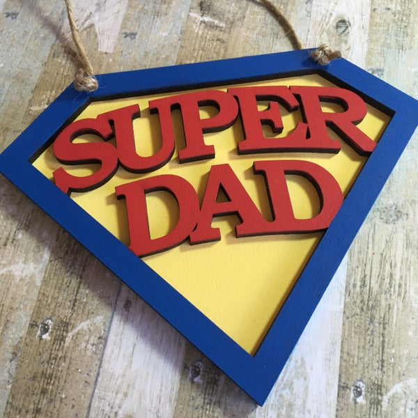 Image of Super Dad plaque