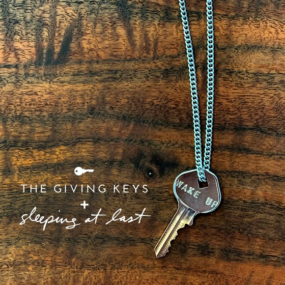 "Image of Enneagram 9 ""WAKE UP"" Key Necklace"