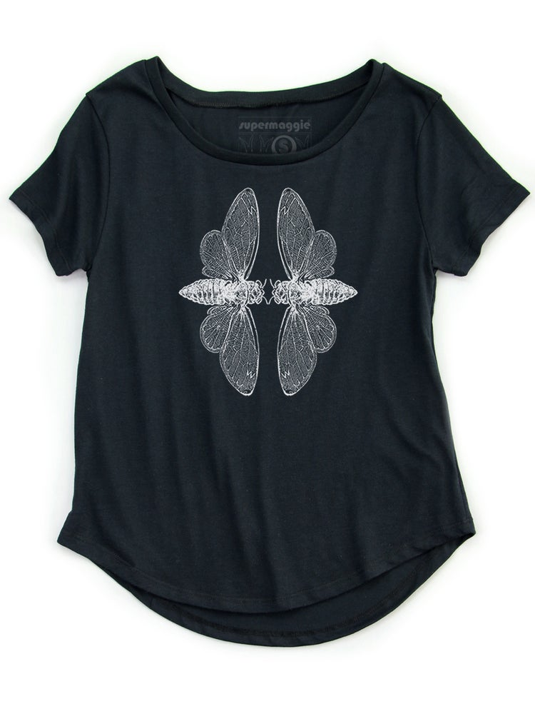 Image of Cicadas Nancy Tee - Black