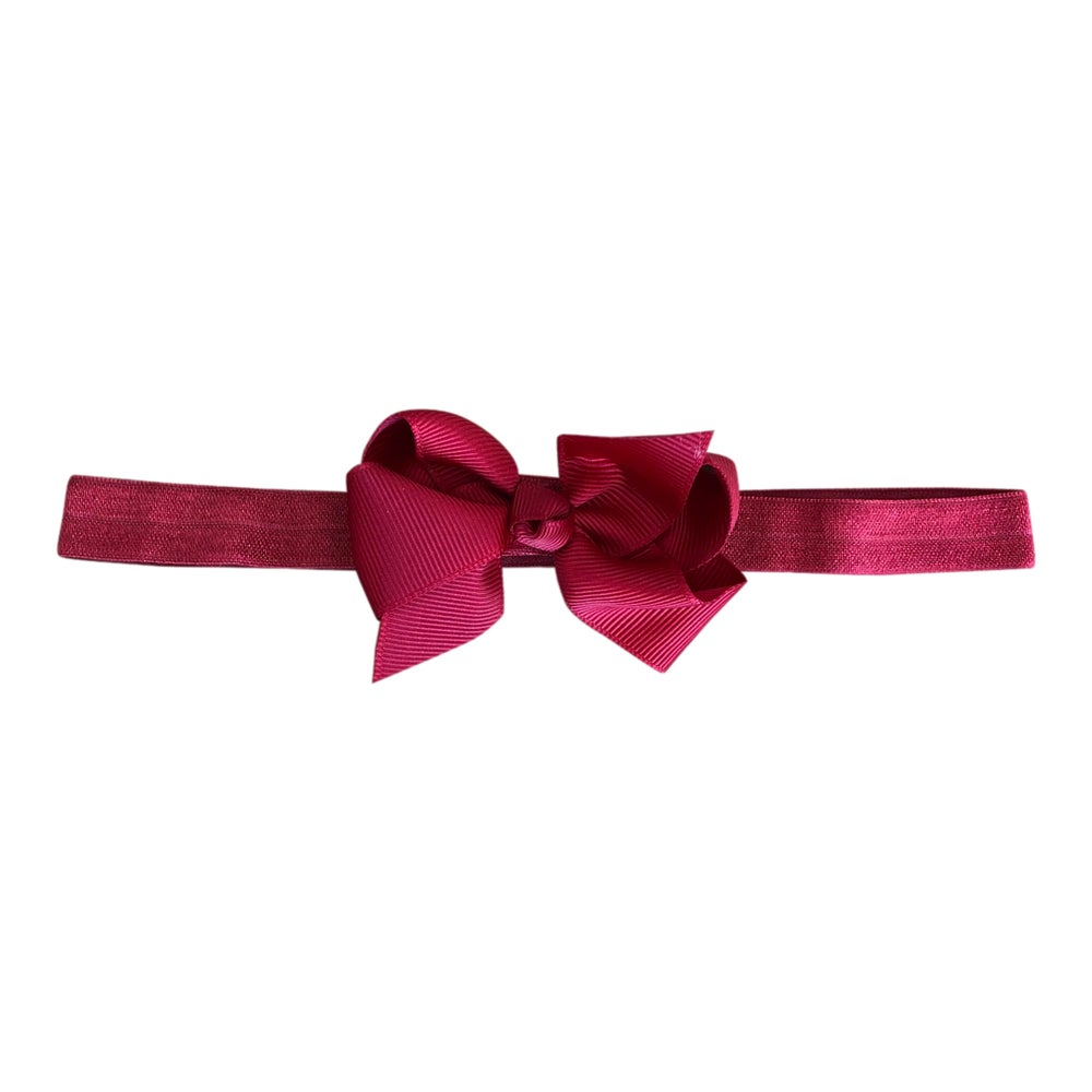 Image of Dark Red Baby Bow Headband